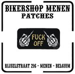 Fuck off 2 fingers biker patch motorcycle patches