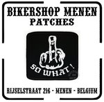 Fuck you so what finger biker patches motorcycle patch