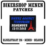Bikers against terrorism met eiffeltoren - Biker patch