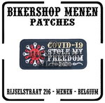 Covid 19 Stole My Freedom biker patch 2