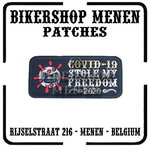 Covid 19 Stole My Freedom biker patch 1