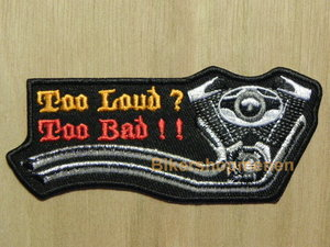 Biker patch to loud to bad harley blok