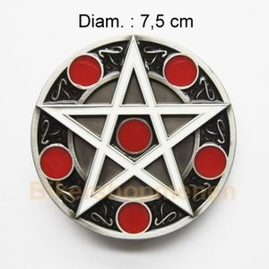 Circle star belt buckle