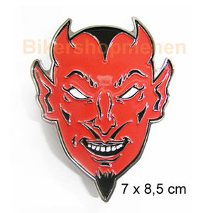 Red Devil belt buckle