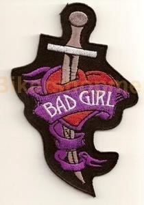 Biker patch Bad Girl and Knife