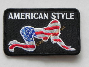 Biker patch - American style babe