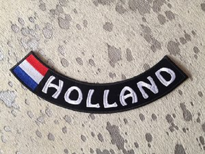 Holland en vlag bottom rocker