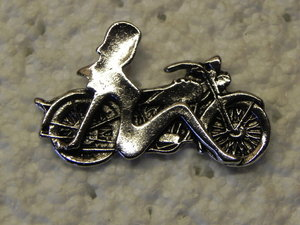Trucker mud and motorcycle biker pins