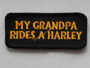 Biker patch - My grandpa rides a harley