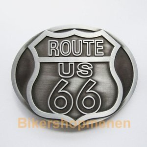 Original Route US 66 Biker Belt Buckle