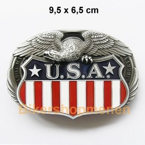 Buckle USA vlag met Eagle