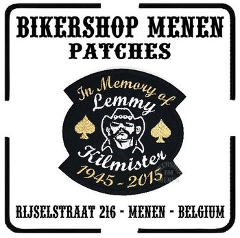 In Memory of Lemmy biker patch