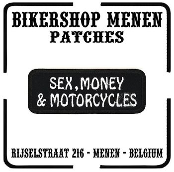 Sex money motorcycles biker patch
