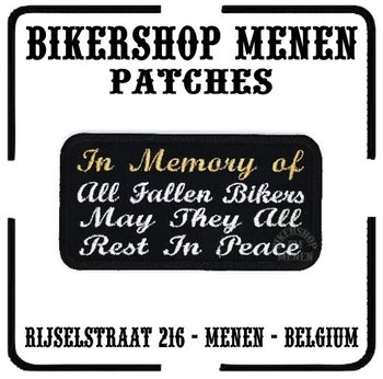 Memory of Bikers motorcycle patch