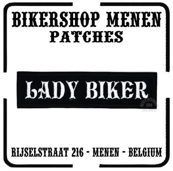 Lady biker motorcycle patch