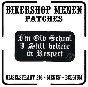 Old school respect biker patch