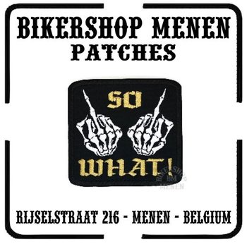 So what fuck you biker patch