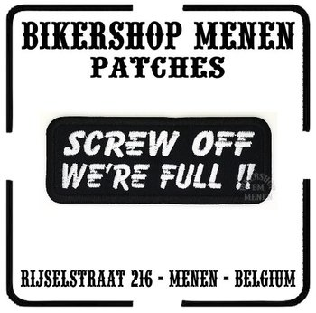 Srew off biker patch