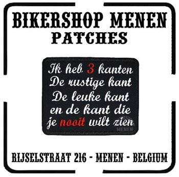 Ik heb 3 kanten biker patch motorcycle patches