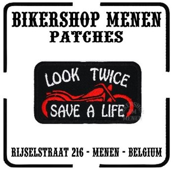 Biker patches - Look twice save life