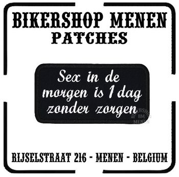 Biker patches Sex in de morgen
