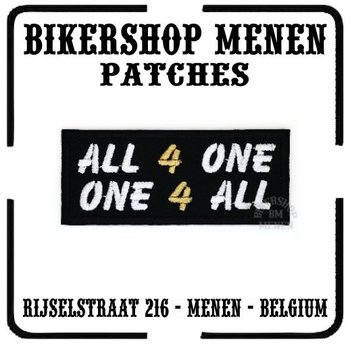 All for One One for All biker patch