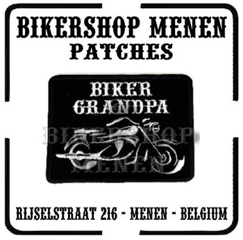 Biker Grandpa and Motorcycle funny biker patch