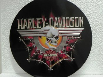 Harley Davidson SKULL metal sign