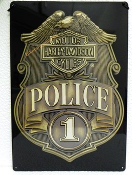 Harley Davidson POLICE metal sign