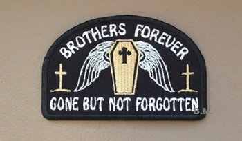 Biker patches - Brothers forever wings