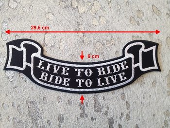 Live to Ride rocker patch