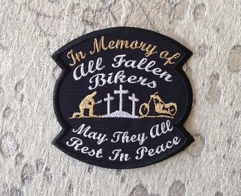 Memory biker motorcycle patch