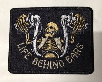 Life Behind Bars Biker patch gold