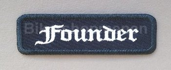 Founder biker patch