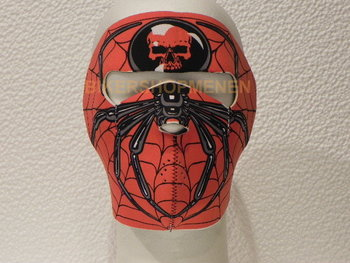 Biker face mask spider.