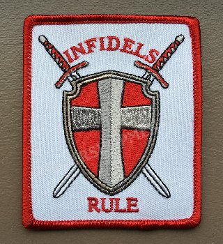 Infidels Rules biker patches