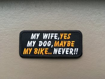 My wife dog bike biker patches