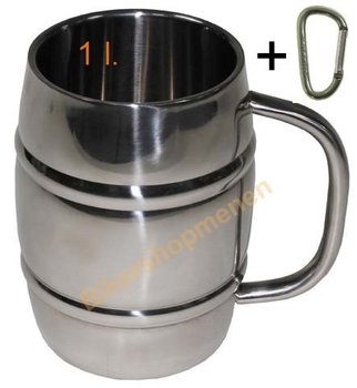 Stainless steel mug 1 liter
