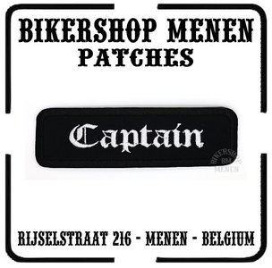 Captain mc biker rank patch