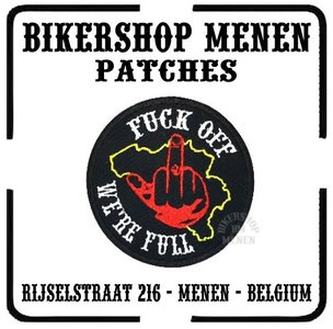 Belgium fuck off were full finger biker patch motorcycle patches