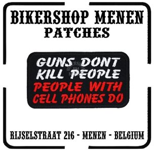 Guns dont kill biker patches