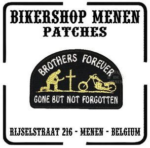 Brothers forever Motorcycle and man biker patch