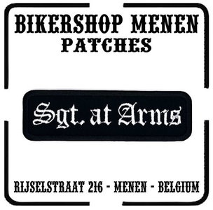 Sgt at Arms MC Biker Rank Patch