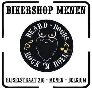 Beard Boobs Rock and Roll Biker Patch