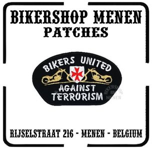 Bikers united against terrorism met schild - Biker patch