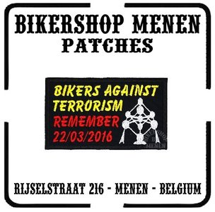 Bikers against terrorism atomium - Biker patch