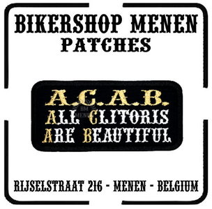 ACAB All Clitoris are beautiful funny biker patches teksten