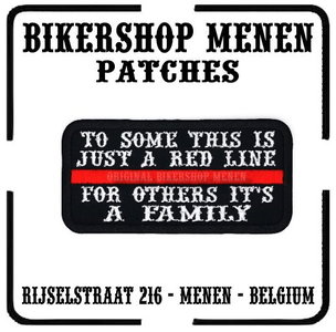 For some this is just a Red Line for others it's a family biker patch