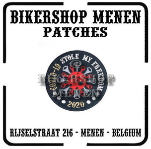 Covid 19 Stole My Freedom biker patch 4