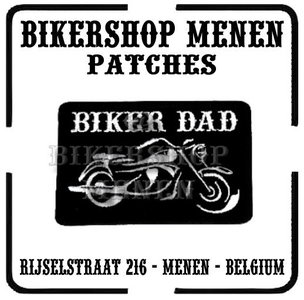 Biker Dad and Motorcycle funny biker patch